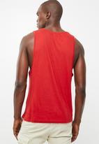 Brave Soul - Cacti scoop neck vest - red