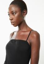 Superbalist - Straight neck bodysuit - black & white