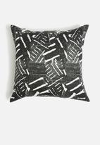 Sixth Floor - Yule cushions cover - black