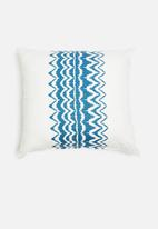 Sixth Floor - Pine cushion cover - blue & white