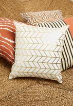 Sixth Floor - Lark cushion cover - gold & white