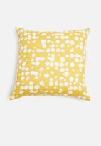 Sixth Floor - Iris cushion cover - mustard