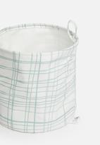 Sixth Floor - Loop storage bag - mint & white