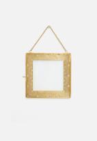 Sixth Floor - Elsie brass photo frame - gold
