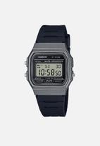 Casio - Digital watch F-91WM-1B -silver/black