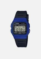 Casio - Digital wrist watch - blue & black