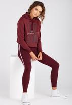 Supré  - Raw cut graphic hoodie - burgundy