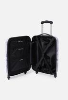 Typo - Small suitcase - purple & white