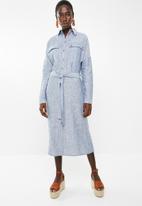 Superbalist - Midi length shirt dress - blue