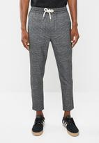 Only & Sons - Linus check pant - grey & black