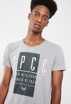 S.P.C.C. - Courage printed tee - grey