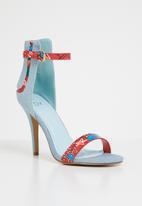 Dolce Vita - Nolan ankle strap heels - blue & red