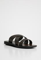 MAZERATA - Jerry 12 print sandal - brown