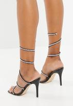 Sissy Boy - Diamante strappy heels - black