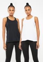 Superbalist - Core vests 2 pack - black & white