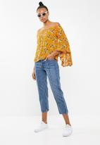 Revenge - Floral off-shoulder top - yellow