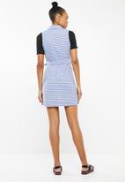 Revenge - Sleeveless stripe shift dress - blue