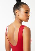 Superbalist - Bodysuit with low back - red