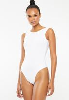 Superbalist - Bodysuit with low back - white
