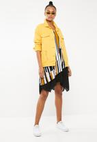 Revenge - Abstract printed double layer blouse - yellow