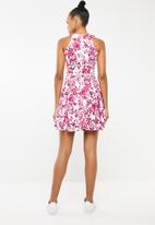 Revenge - Floral belted dress - pink