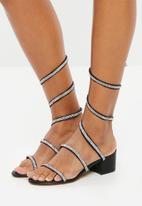 Truffle - Embellished wraparound sandals - black