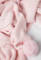 Cotton On - Cotton knit blanket - pink