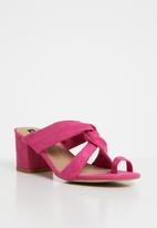 Cherry Collection - Mexico knot detail mules - pink