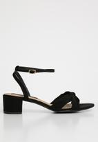Cherry Collection - Seattle ankle strap heels - black