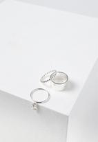 Cotton On - Carolina ring set - silver