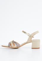 Butterfly Feet - Tinna blocked heels - beige