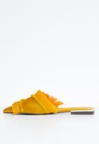 Dolce Vita - Fringe detail mules - yellow