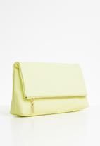 Anni King - Lianthus leather zip clutch bag - yellow