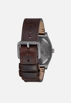Nixon - Time teller gunmetal - silver & brown