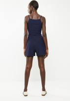 Superbalist - Bow front detail playsuit - navy stripe
