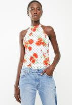 Superbalist - Cut away knit top - white floral
