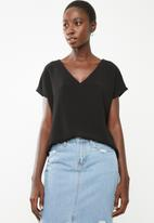 Superbalist - V-neck blouse - black