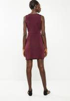Superbalist - Knot front detail dress - burgundy