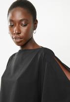 Superbalist - Cold shoulder scarf top - black