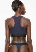 Superbalist - Scoop neck casual bra 2 pack - blue & navy