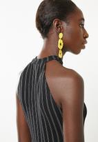 Superbalist - Cut away knit top - black stripe