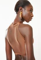 Brave Soul - Stella high neck bikini set - brown