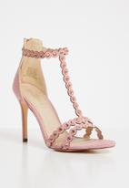 Miss Black - Amalie t-strap heels - pale pink