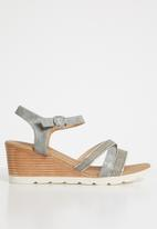 Butterfly Feet - Courtney strappy wedges - grey