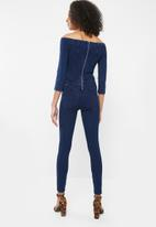 Sissy Boy - Sculpt knit jumpsuit - blue