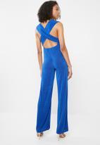 Sissy Boy - Rhyme multi wrap jumpsuit - blue