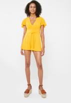 Sissy Boy - Tel Aviv playsuit - yellow