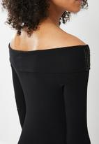 Sissy Boy - Jean blink logo dress - black