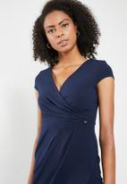 Sissy Boy - Girl boss asymmetric wrap dress - navy