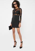 Sissy Boy - Sequins beaded bandage dress - black